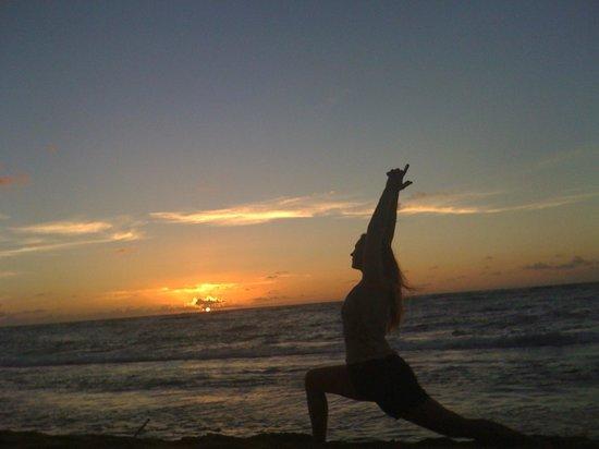 Kauai Yoga On The Beach Sunrise