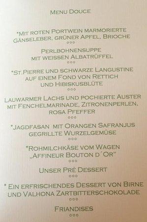 Hotel Restaurant Hirschen: menu Douce