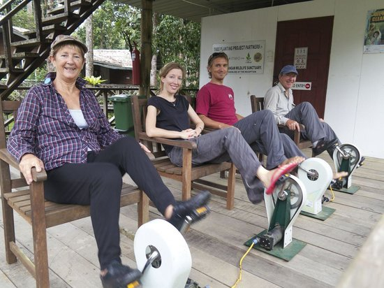 Borneo Nature Lodge: Working off some mince pies while generating electric
