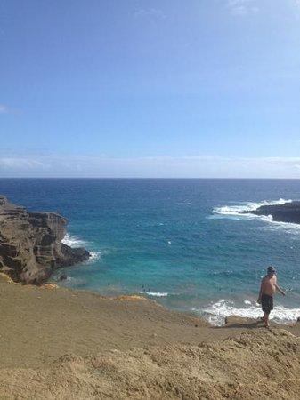 South Point (Ka Lae) and Green Sand Beach: green sands