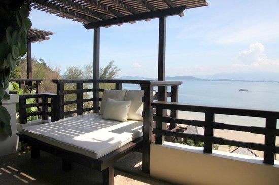 Gaya Island Resort: The verandah at the Kota Kinabalu suite with an ocean view