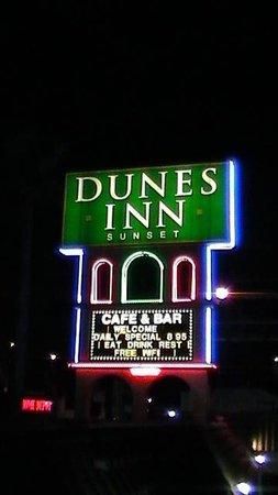 Dunes Inn - Sunset : Dunes Inn Sunset at night