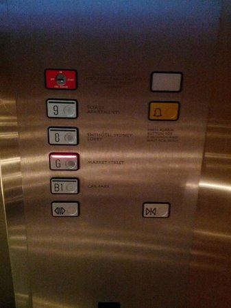 Swissotel Sydney: You need to catch a lift up to level 7 to get to reception from Ground Floor