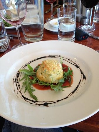 Upstairs at Hollick: The soufflé was delicious