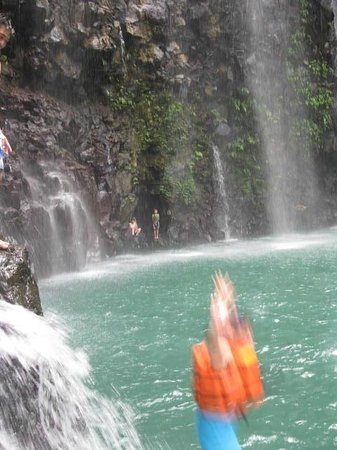 Tinago Falls: Me...jumping off the cliff