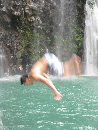 Tinago Falls: our life guard...
