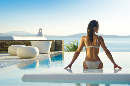Mykonos Grand Hotel & Resort : View from Grand Suite with Private Pool