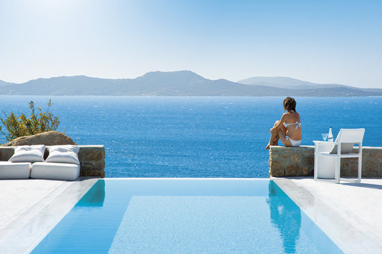 ‪‪Mykonos Grand Hotel & Resort‬: Infinity private pool‬