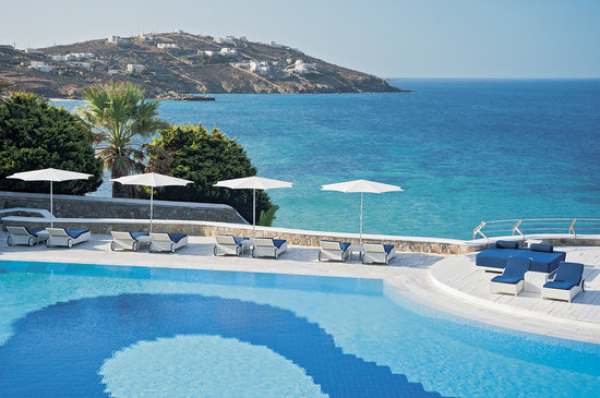 Mykonos Grand Hotel & Resort: Main pool area