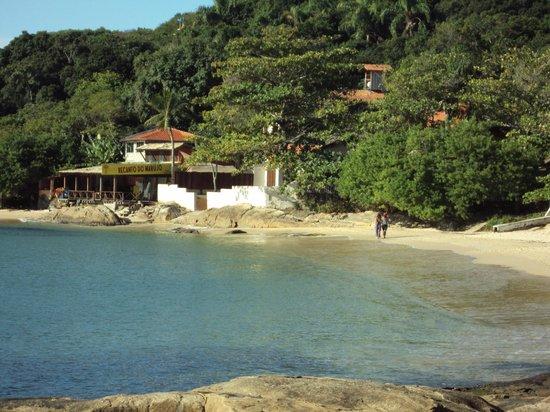 Bombinhas, SC: Praia da lagoinha vista do trapiche