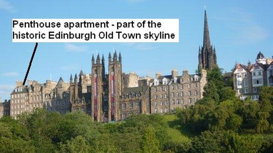 Capital View Apartments: Location of the apartments - on Edinburgh's famous skyline