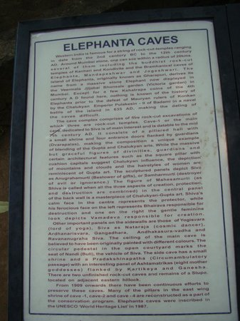 Elephanta Caves: MArble from ASI
