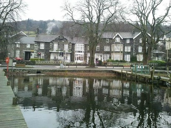 Waterhead Hotel, from pontoon on Windermere