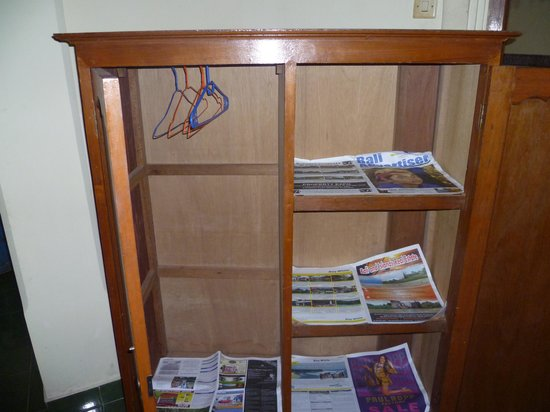 Panorama Cottages I: The wardrobe with 6 month old newspapers