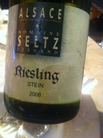Restaurant Jean-Victor Kalt : riesling one glass for € 6