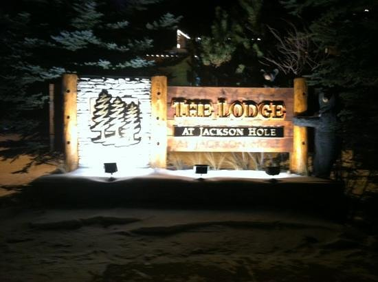The Lodge at Jackson Hole: out front