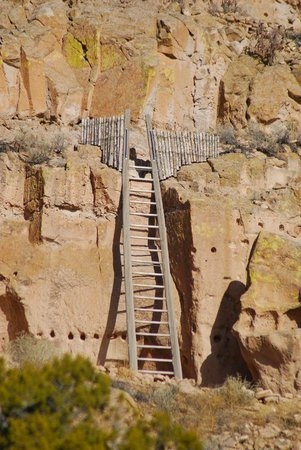 Puye Cliff Dwellings: The 'staircase' up