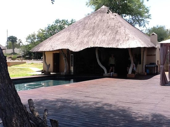‪‪Muweti Bush Lodge‬: Pool and dinning area