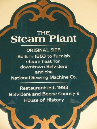 Steam Plant Family Restaurant: Steam Plant's history