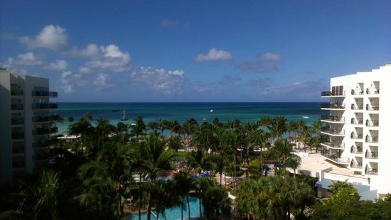 Aruba Marriott Resort & Stellaris Casino: View from our room.