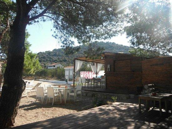 Liberty Restaurant & Lounge Bar: Blick auf die Terrasse