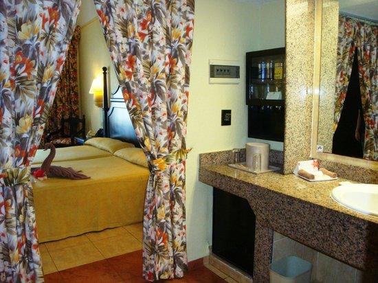 Hotel Riu Playacar: Room 3318 from bathroom.  Minimal privacy.