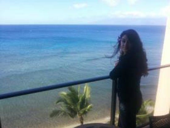 Aston Mahana at Kaanapali: my wife enjoying the view