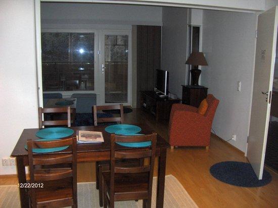 Apartments Tahtitahko: From kitchen to livingroom