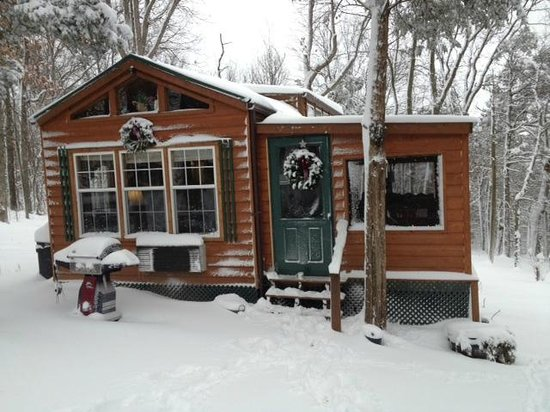 ‪‪Rim Rock's Dogwood Cabins‬: Snowed in and loving it!
