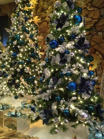 IP Casino Resort: Not crazy about blue and silver ornaments; but pretty none-the-less