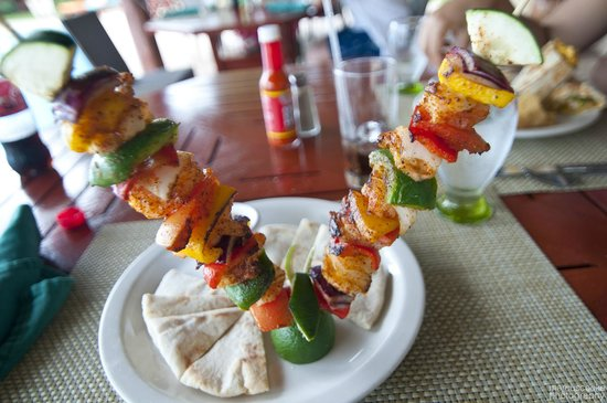 Belizean Dreams Resort: Shrimp Kabobs