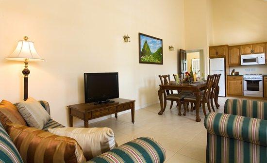 Villa Beach Cottages - Deluxe Two Bedroom Villa Suite - Living Room