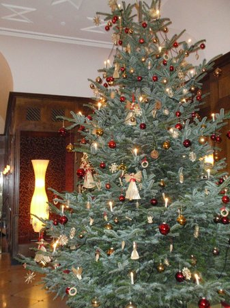 Platzl Hotel: Lobby and Christmas Tree