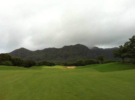 Puakea Golf Course: Right before the rain