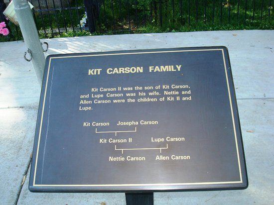 Kit Carson Park: Sign by graves