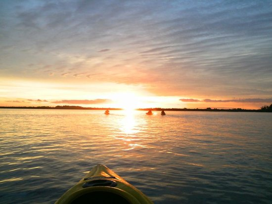 Motorized Kayak Adventures: Round Island Sunset tour Dec 2012