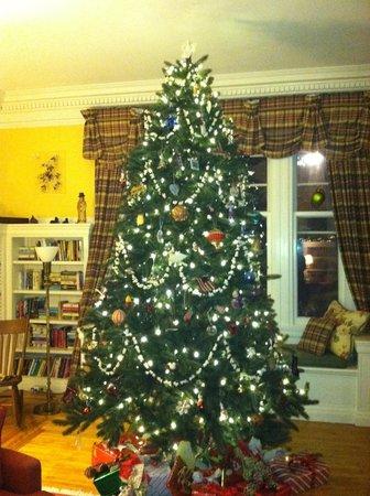 Birchwood Inn : Christmas tree in the living room