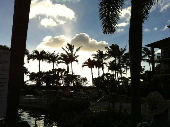 Lawai Beach Resort: From pool side
