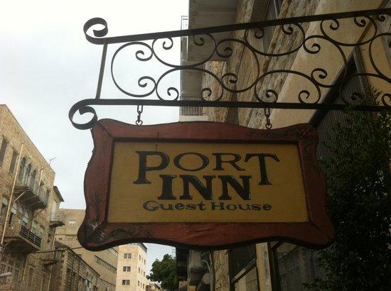 The Port Inn entry sign