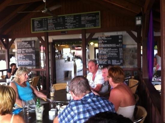 Rodney Bay Marina : cafe ole