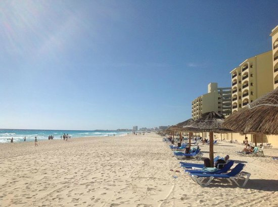The Royal Caribbean: Safe, beautiful beaches with lots of chairs and umbrellas