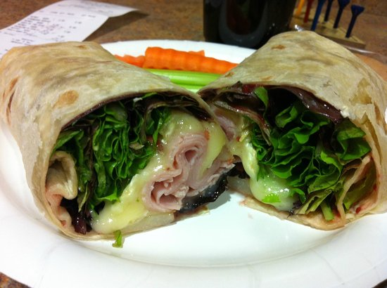 Bat Cave Cafe: Ham, brie and pear wrap