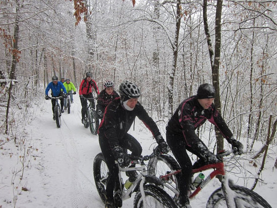 ‪‪Mankato‬, ‪Minnesota‬: Fat Bikes at Seven Mile Creek - Mankato Multisport Club.