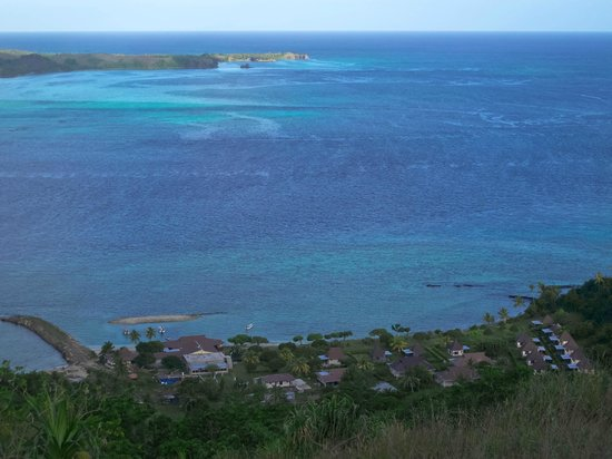 Coralview Island Resort: View from the hill to the resort
