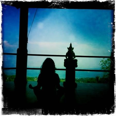 The Hamsa Bali Resort: Every morning yoga. After that: muesli breakfast, yum!