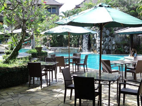 Hotel Vila Lumbung: Pool view from the dining area