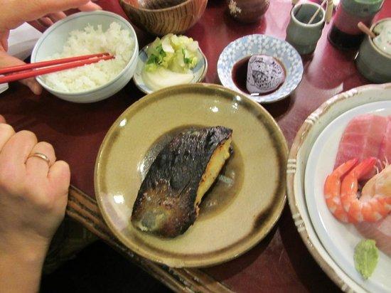 Yonehana: baked cod with miso taste