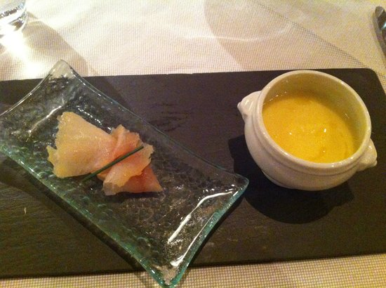 L'Atelier : smoked fish with celeriac veloute