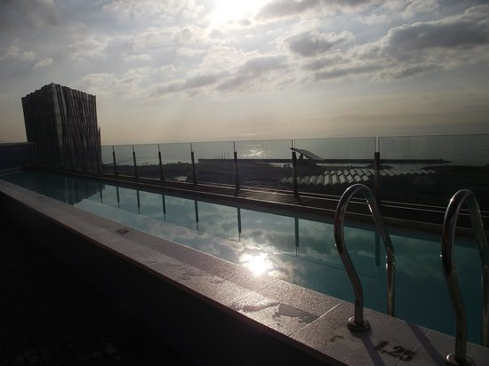 Barcelona Princess: View from the top floor pool overlooking the sea