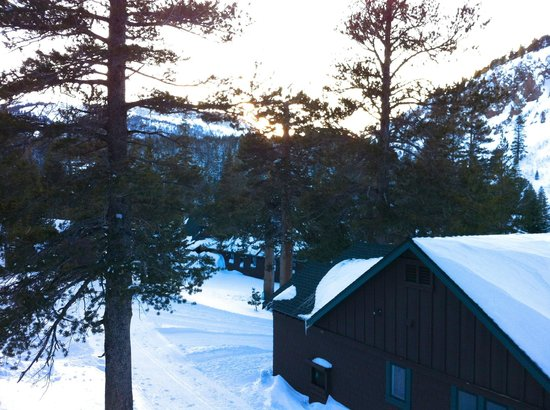 Tamarack Lodge and Resort: Winter sunset from the deck